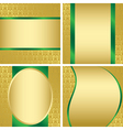 golden decorative cards - set vector image vector image