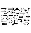Arrow set vector image