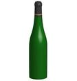 3d bottle of wine vector image