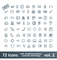 72 Icons vector image