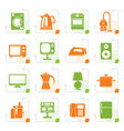 stylized home equipment icons vector image
