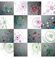bauhaus art set of modular wallpapers made using vector image