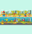 kids playground horizontal banners vector image