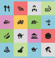 set of 16 editable structure icons includes vector image