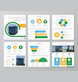 set of green and blue yellow elements for vector image
