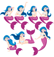 Mermaid Set vector image vector image