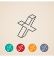 isometric check mark icons vector image