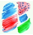 Watercolor hand painted brush strokes vector image