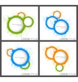 Abstract backgrounds with circles vector image