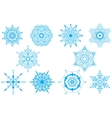 Decorative Snowflakes set - winter series clip-art vector image
