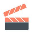 movie clapper board silhouette icon film vector image