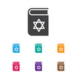 of dyne symbol on jewish book vector image