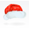 red santa claus hat with the pattern of golden sno vector image