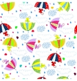Seamless background with colorful umbrellas vector image