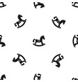 toy horse pattern seamless black vector image