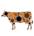 dotted cow vector image