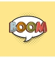 boom comic pop art style vector image vector image