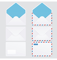 Set of 6 glossy envelope icons vector image vector image