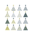 Cristmas Trees Set vector image vector image