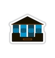 Architecture greek building Doric temple vector image