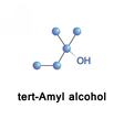 tert Amyl alcohol vector image