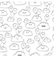 seamless pattern with clouds and balloons vector image