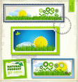 Set of nature post stamp vector image