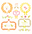 Wedding romantic set vector image