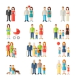 Family flat style people icons vector image