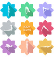 Yoga icons Flat design Shadow vector image