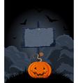 Halloween Wooden Sign vector image