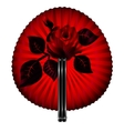 fan and rose vector image vector image