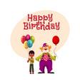 black african american boy holding balloons vector image