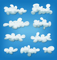 comic clouds set vector image