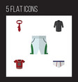 flat icon dress set of underclothes uniform vector image