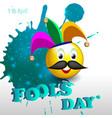 fools day 1 vector image