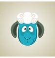 Head of the cute cartoon smiling sheep vector image
