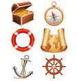 marine icons vector image