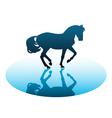 Running horses1 vector image