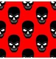 Skull seamless pattern Black vector image