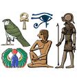 Symbols of ancient Egypt vector image