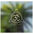tropical yoga realistic banner with mandala and vector image