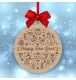 Happy New Year 2017 round banner Greeting card vector image