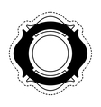 firefighter shield isolated icon vector image