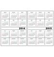 Calendar template 2014 2015 vector image