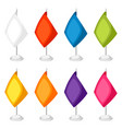 colored flags templates set of promotional gifts vector image