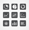 Information chart icons collection vector image