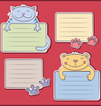 Message stickers with funny animals vector image