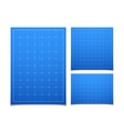 Blue isolated square grid set with shadow vector image