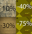 40 30 75 icon Set of percent discount on abstract vector image